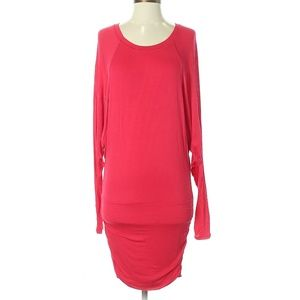 BCBGMAXAZRIA Red Long Sleeve Shift Dress